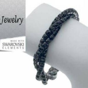 Bangle bracelet 2 row bangle black or white NWT